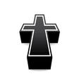 Black cross vector image vector image