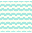 Pastel seamless retro wave Pattern - Mint vector image vector image