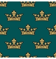 Royal seamless pattern with golden crowns vector image vector image