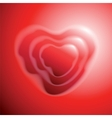 Heart shape on red background vector image