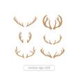 Brown silhouettes of deer antlers vector image