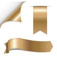 Gold Ribbons Set vector image
