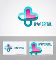 hospital logo vector image