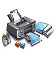 ink jet printer vector image