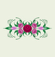 russian traditional floral ornament vector image