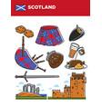 scotland travel destination promotional poster vector image