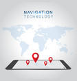smartphone navigation in modern design vector image