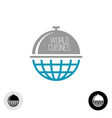 World food logo vector image