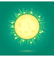 Yellow Moon and Floral Frame vector image