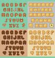 sweet cookies alphabets artistic font vector image