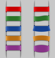 Colored vertical bookmarks background vector image vector image