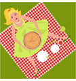 Picnic with an apple pie vector image