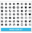 Mixed icon set labels vector image
