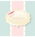 classic romantic invitation design  pink vector image