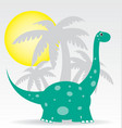 dinosaurs and palms vector image vector image
