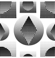Technostyle black-and-white pattern vector image
