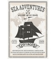 Nautical Grey Poster vector image vector image