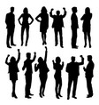 Business activity silhouettes vector image