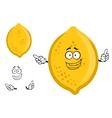 Colorful yellow cartoon lemon fruit vector image