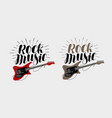 rock music lettering guitar musical string vector image
