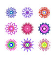 set abstract flowers vector image
