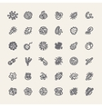 Set of 36 Icons with Bacteria and Germs vector image