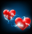 two hearts Stock vector image