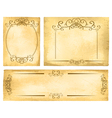 Vintage Paper Border Collection vector image vector image
