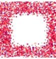Pink Star Frame on White Background vector image
