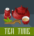 chinese tea ceremony concept vector image