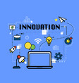 innovation graphic for business concept vector image