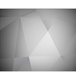 Abstract 3d grey background made from triangles vector image vector image