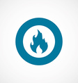 fire bold blue border circle icon vector image