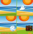 set of vacation background vector image