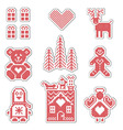 Scandinavian style icons vector image