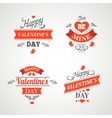Set of happy valentine day hand lettering - vector image