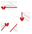 A set of three gift cards with elegant silk vector image