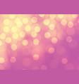 abstract yellow bokeh light on pink luxury vector image
