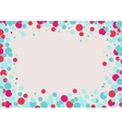 Abstracts rounded bubbles background vector image