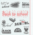 Back to School 4 vector image