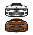 Cars muscle comic set vector image