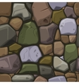 Cartoon colors stone texture seamless background vector image