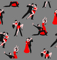 couples dancing latin american romantic couples vector image
