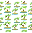island palm tree seamless texture Summer vector image