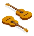 Isometric Classical acoustic guitar vector image
