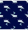 Seamless pattern Ice deer vector image