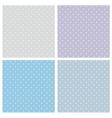 Tile blue pattern set with polka dots vector image