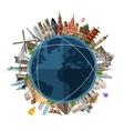 travel journey logo design template trip vector image