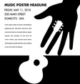 Unusual guitar poster vector image