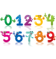 Funny numbers vector image vector image